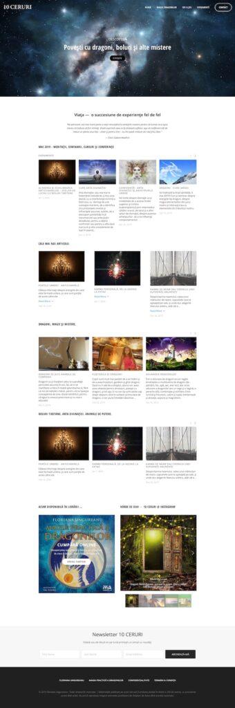 10ceruri.com homepage